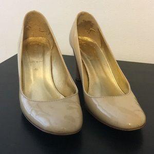 J. Crew patent leather nude heels